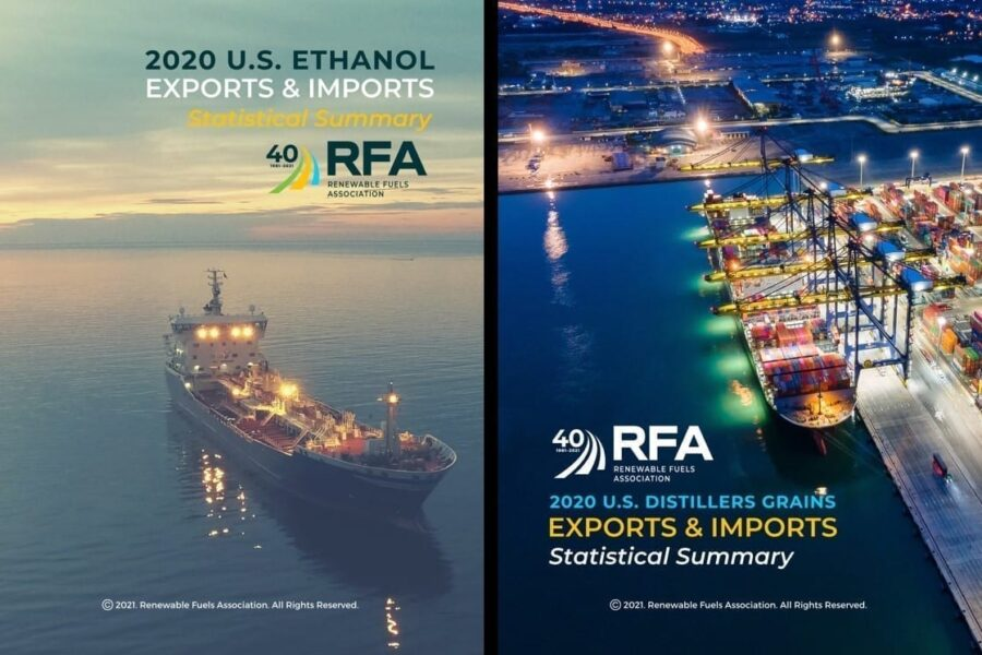 RFA Releases Statistical Reports on 2020 Ethanol, Distillers Grains Exports